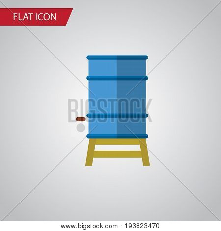 Isolated Water Tank Flat Icon. Container Vector Element Can Be Used For Water, Tank, Container Design Concept.