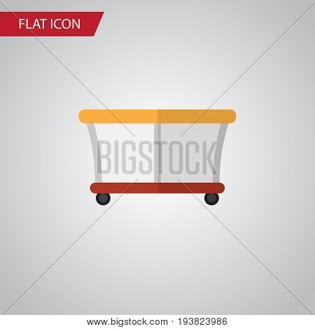 Isolated Playpen Flat Icon. Playground Vector Element Can Be Used For Playpen, Playground, Baby Design Concept.