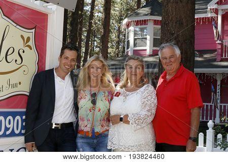 LOS ANGELES - JUL 1:  Dominique Zoida, Katherine Kelly Lang, Laure Kagan, Spencer Kagan at the