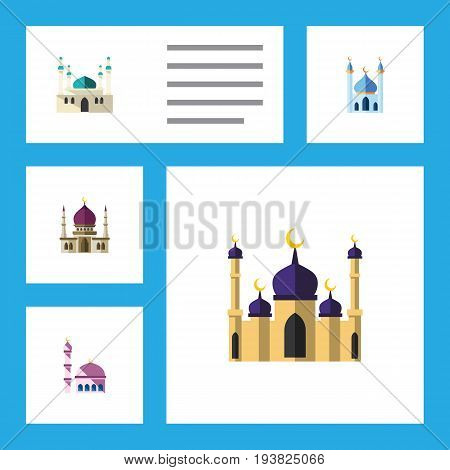 Flat Icon Minaret Set Of Traditional, Building, Structure And Other Vector Objects. Also Includes Traditional, Building, Mohammedanism Elements.