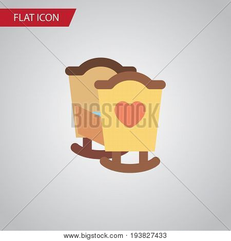 Isolated Cot Flat Icon. Crib Vector Element Can Be Used For Cot, Crib, Child Design Concept.