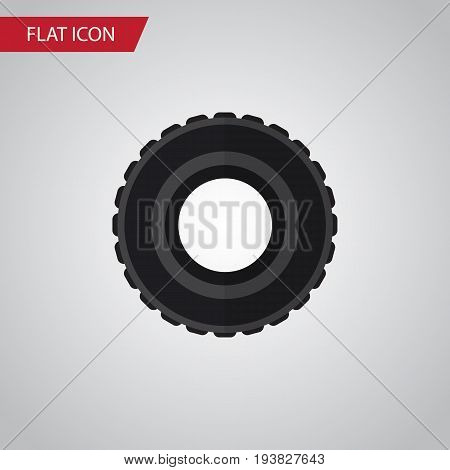 Isolated Tire Flat Icon. Wheel Vector Element Can Be Used For Tire, Wheel, Car Design Concept.
