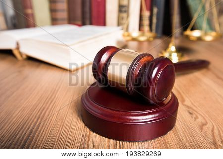 Books gavel background paper isolated closeup business