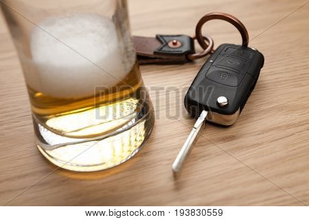 Drunk driving concept