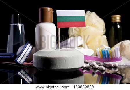 Bulgarian Flag In The Soap With All The Products For The People Hygiene