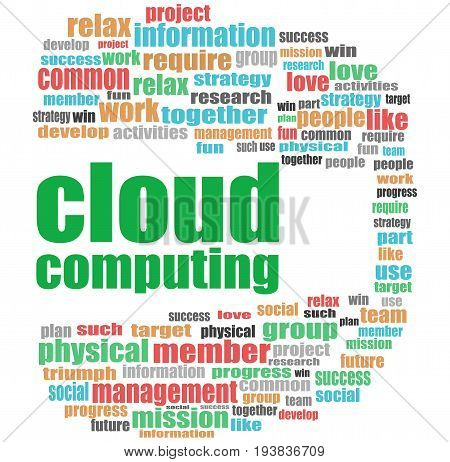 Cloud Computing Words. Business Concept . Word Cloud Collage