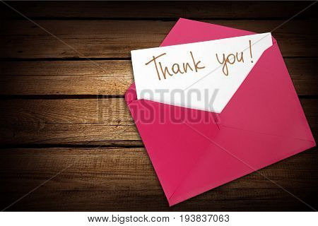 Thank you envelope gratitude letter open communication mail