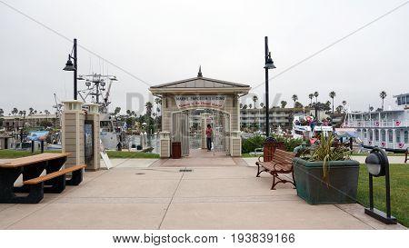 OXNARD CA USA - JULY 4 2013: Marina in City of Oxnard gateway to the Channel Islands of Calrifornia coast in Ventura county