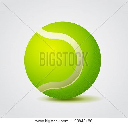 Vivid Green Tennis Ball Color Vector Illustration