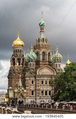 St. Petersburg Russia - June 27 2017: Church of the Saviour on Spilled Blood. Spas na krovi