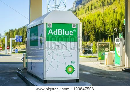 Adblue Tank At Filling Station