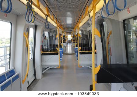 Subway  in Brescia, a city in northern Italy