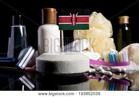 Kenyan Flag In The Soap With All The Products For The People Hygiene