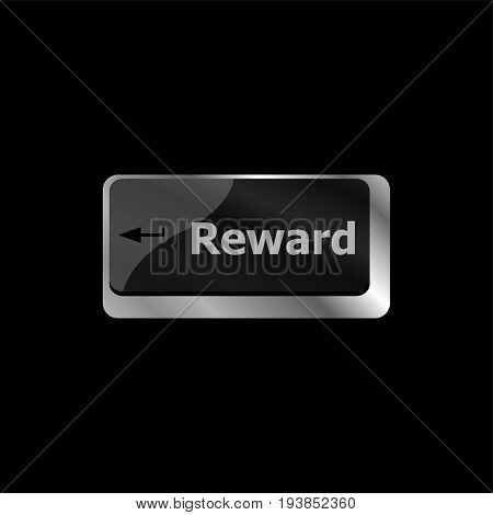 Reward Word On Keyboard Keys Showing Payoff Or Roi