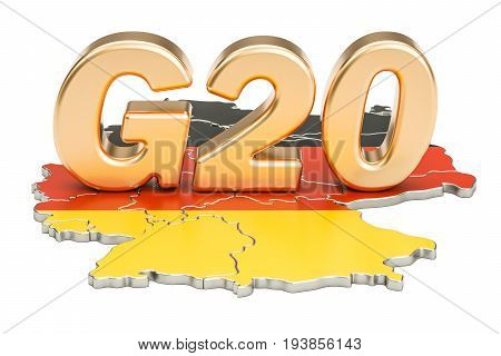 German G20 meeting concept. Summit G20 3D rendering