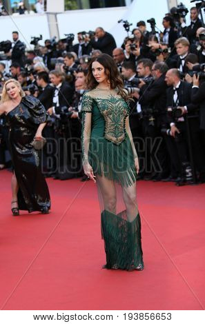 Frederique Bel attends the 'Ismael's Ghosts (Les Fantomes d'Ismael)' screening and Opening Gala during the 70th annual Cannes Film Festival at Palais des Festivals on May 17, 2017 in Cannes, France.
