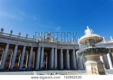 View To Basilica Di San Pietro From Piazza San Pietro