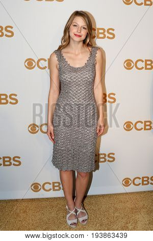 Actress Melissa Benoist attends the 2015 CBS Upfront at The Tent at Lincoln Center on May 13, 2015 in New York City.