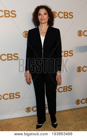 Actress Mary Elizabeth Mastrantonio attends the 2015 CBS Upfront at The Tent at Lincoln Center on May 13, 2015 in New York City.
