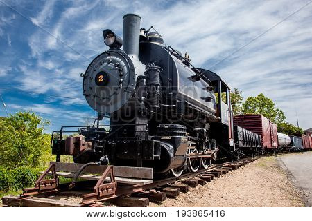 ESSEX - MAY 24: Connecticut Valley Railroad Steam Train Locomotive  in Essex,  Connecticut , USA on May 24, 2015