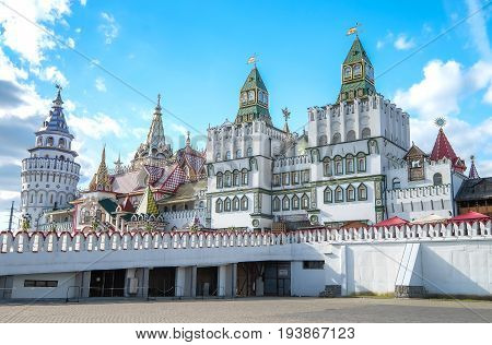 RUSSIA MOSCOW - 27 May 2017: Kremlin in Izmailovo. beside the Izmoilovo souvenir market. It's a Kremlin in Izmailovonice place .