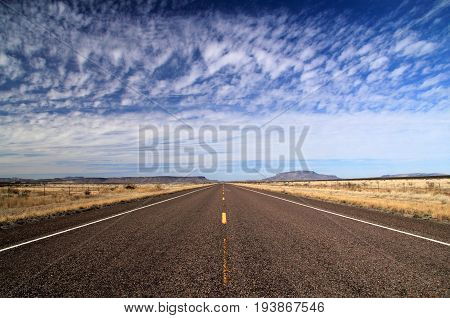 Scenic Landscape along Texas State Highway 118, American Southwest