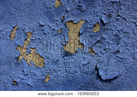 Chipped and Dried Blue Paint