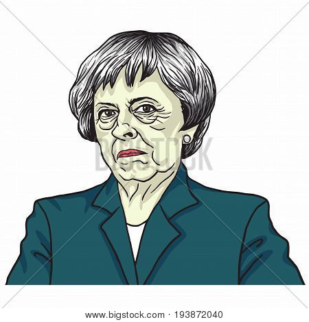 Theresa May. The Prime Minister of the United Kingdom Theresa May. London, UK. July 5, 2017