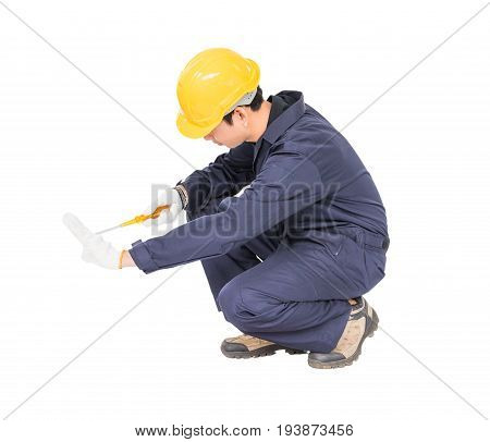 Electrician With Bunch Of Wires Invisible Wall