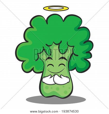 Innocent broccoli chracter cartoon style vector illustration