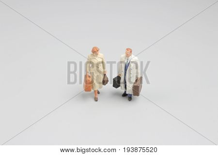 Mini Of Figure On Travel With Luggage