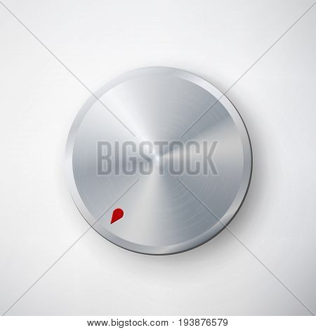 Dial Knob Vector. Global Swatches. Realistic Plastic Button. Abstract Technology Template.