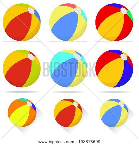 Beach ball ball for playing on the beach volleyball. Flat design vector illustration vector.