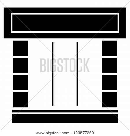 Shopfront The Black Color Icon .