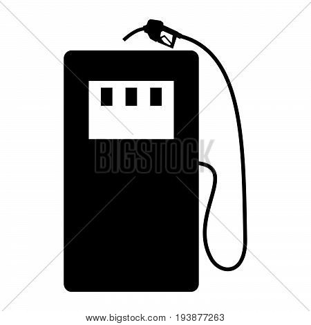 Gas Stration The Black Color Icon .