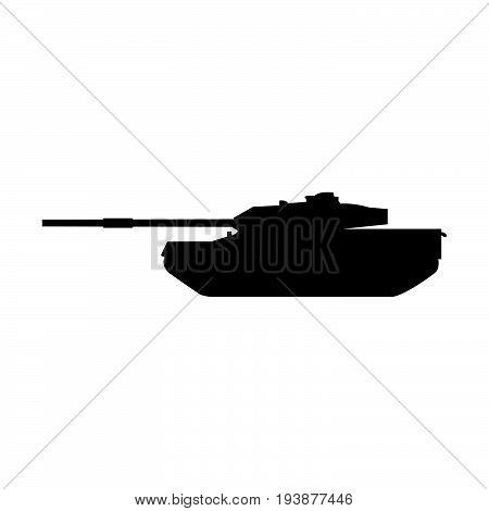 Tank The Black Color Icon .