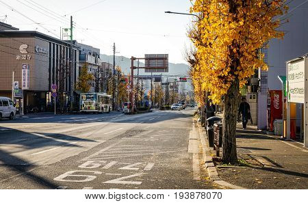 Street At Downtown In Kyoto, Japan