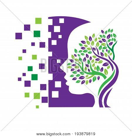 Psychology Concept Design,elegant Psychology and Mental Health logo concept