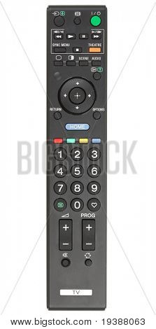 TV remote control. Isolated on white background