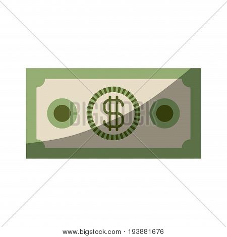 colorful silhouette of money bill with half shadow vector illustration