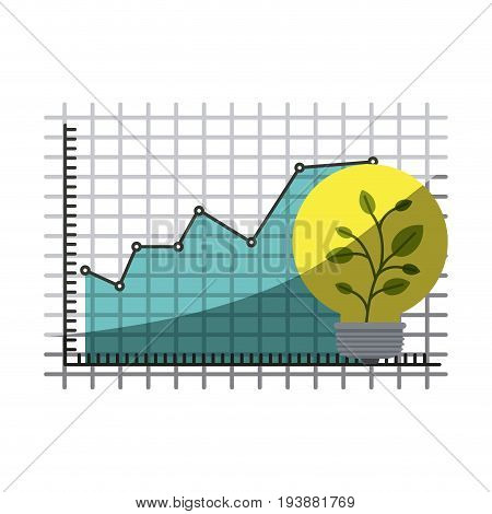 colorful silhouette of growing and financial risk graphic with half shadow vector illustration