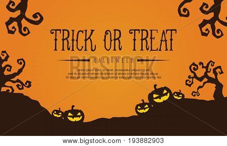 Collection stock Halloween with pumpkin vector illustration