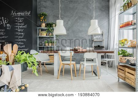 Nice and homey dining room with kitchen annex