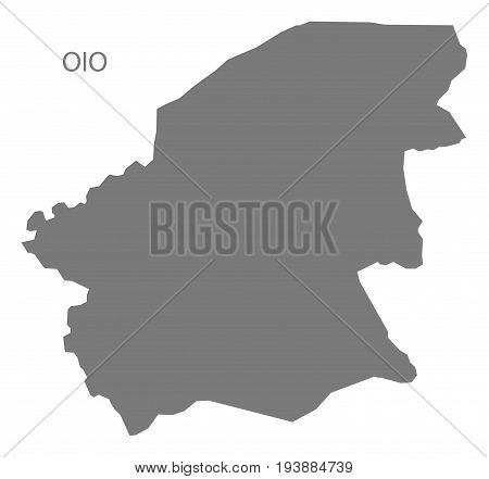 Oio Guinea-Bissau map grey illustration silhouette shape