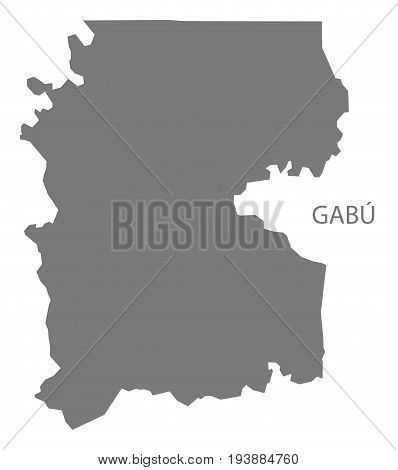 Gabu Guinea-Bissau map grey illustration silhouette shape