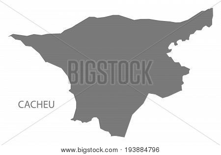 Cacheu Guinea-Bissau map grey illustration silhouette shape