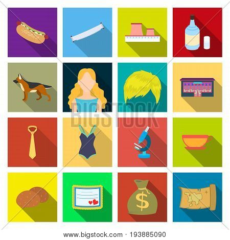 business, cafe, hobby and other  icon in flat style., business, cafe, hobby icons in set collection