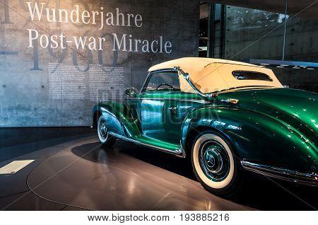 Photo made on June 25 2017 - Mercedes-Benz Museum Stuttgart Germany - the Mercedes-Benz 300 S