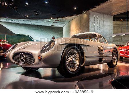 Photo made on June 25 2017 - Mercedes-Benz Museum Stuttgart Germany - the 300 SLR racing car.