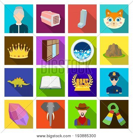 tourism, business, nature and other  icon in flat style., accessories, textiles, hygiene icons in set collection